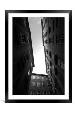 Between solid walls, Framed Mounted Print