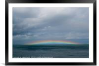 Anglesey Rainbow - 02, Framed Mounted Print