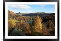 Overlooking Rydal Water, Framed Mounted Print