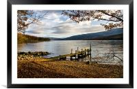 Old Wooden Jetty on Loch Arkaig, Framed Mounted Print