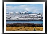 Snowy Layers Scotland, Framed Mounted Print
