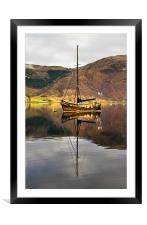 Sailing Boat Reflection Loch Leven, Framed Mounted Print