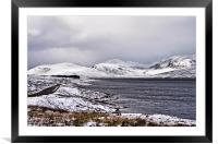 More Snow Coming Over, Framed Mounted Print