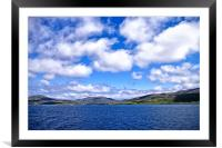 Ferry from Harris to Berneray, Framed Mounted Print