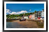 Painting the Boat, Tobermory, Mull , Framed Mounted Print