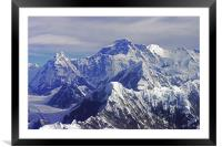 Mount Everest - The Roof of The World, Framed Mounted Print