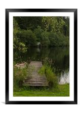 Loch Ard Boat House, Framed Mounted Print