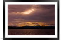 Sunset Lake Menteith, Framed Mounted Print