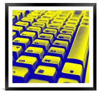 Abstract keyboard, Framed Mounted Print