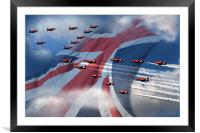 Display  (Red Arrows), Framed Mounted Print