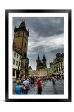 pragues old town square, Framed Mounted Print