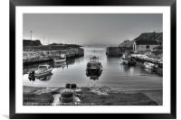 Evening at Ballintoy Harbour, Framed Mounted Print