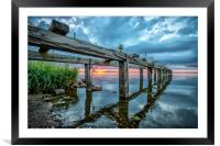 End of the Day at Derrytrasna, Framed Mounted Print