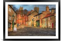 Steep Street Lincoln 2013, Framed Mounted Print