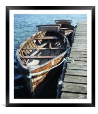 ROWING BOATS FOR HIRE, Framed Mounted Print