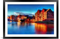 River Hull Dawn 2017, Framed Mounted Print