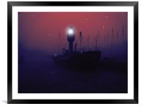 spurn lightship, Framed Mounted Print