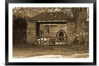 The Lych Gate, Framed Mounted Print