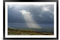 Sun Through Clouds, Yorkshire Dales, Framed Mounted Print