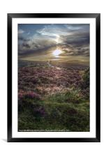 Sunset over Exmoor, Framed Mounted Print