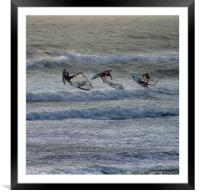 Airborne Windsurfing, Framed Mounted Print