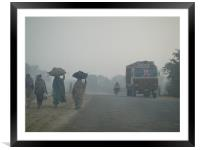 Morning in Remote area of India, Framed Mounted Print