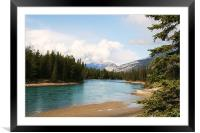View from Jasper National Park., Framed Mounted Print