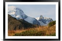 view from The Swiss  Alps, Framed Mounted Print
