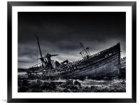 Distressed (BW), Framed Mounted Print
