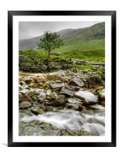 The Rocky River Etive., Framed Mounted Print