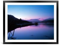 Loch Leven Sunset, Framed Mounted Print