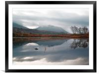 Morning Reflections On Loch Ba, Framed Mounted Print