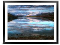 Morning Reflections On Loch Leven, Framed Mounted Print