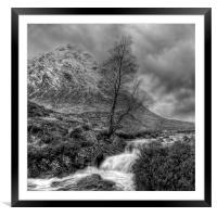 The Buachaille Etive Mor Scotland, Framed Mounted Print