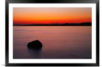 Sunset Over Shell Bay, Framed Mounted Print