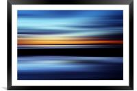 Seaside Abstract, Framed Mounted Print