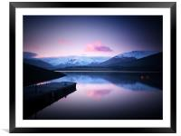 Dusk On Loch Leven, Framed Mounted Print