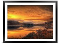 Loch Ba Sunrise, Scotland, Framed Mounted Print