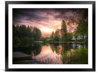 Springtime on Loch Ard, Framed Mounted Print