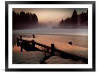 A Misty Glow., Framed Mounted Print