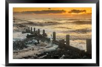Foaming Sea at Overstrand, Framed Mounted Print