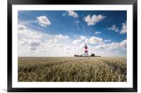 Happisburgh Lighthouse, Framed Mounted Print