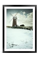 Mill in Snow, Framed Mounted Print