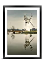 Thurne Mill in January, Framed Mounted Print