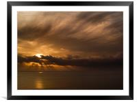 Sunrise at Scratby, Framed Mounted Print