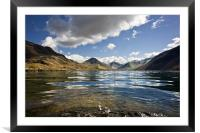 Looking along Wast Water in the Lake District, Framed Mounted Print