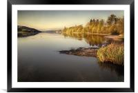 Coniston Water as the sun rises, Framed Mounted Print