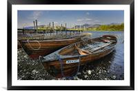 Rowing Boats on Derwent Water, Framed Mounted Print