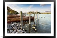 Boats and Poles on Derwent Water, Framed Mounted Print