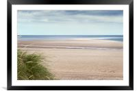 Wells beach at Low tide, Framed Mounted Print